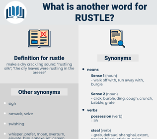 rustle, synonym rustle, another word for rustle, words like rustle, thesaurus rustle