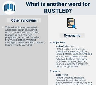 Rustled, synonym Rustled, another word for Rustled, words like Rustled, thesaurus Rustled