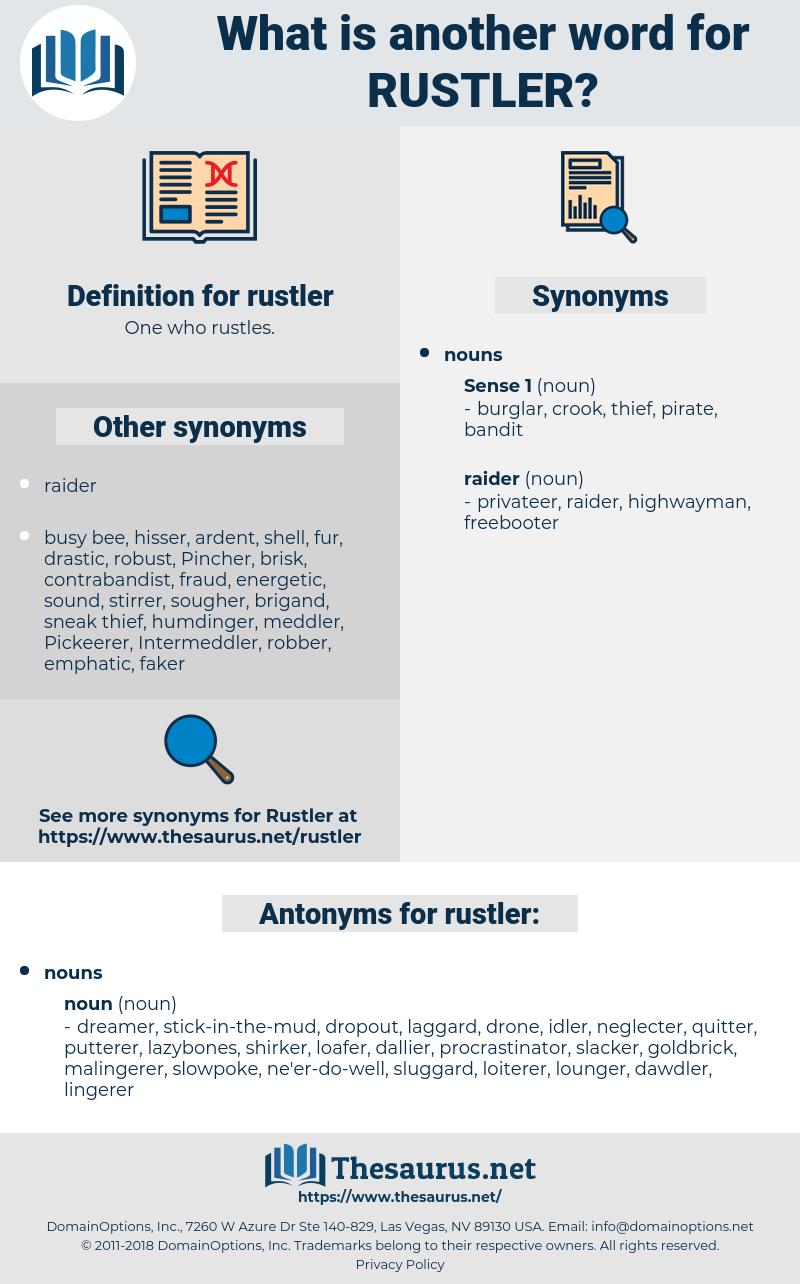rustler, synonym rustler, another word for rustler, words like rustler, thesaurus rustler