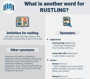 rustling, synonym rustling, another word for rustling, words like rustling, thesaurus rustling