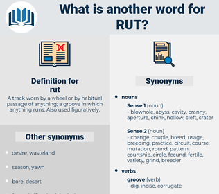 rut, synonym rut, another word for rut, words like rut, thesaurus rut