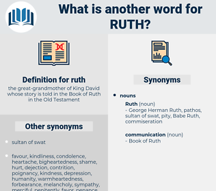 ruth, synonym ruth, another word for ruth, words like ruth, thesaurus ruth