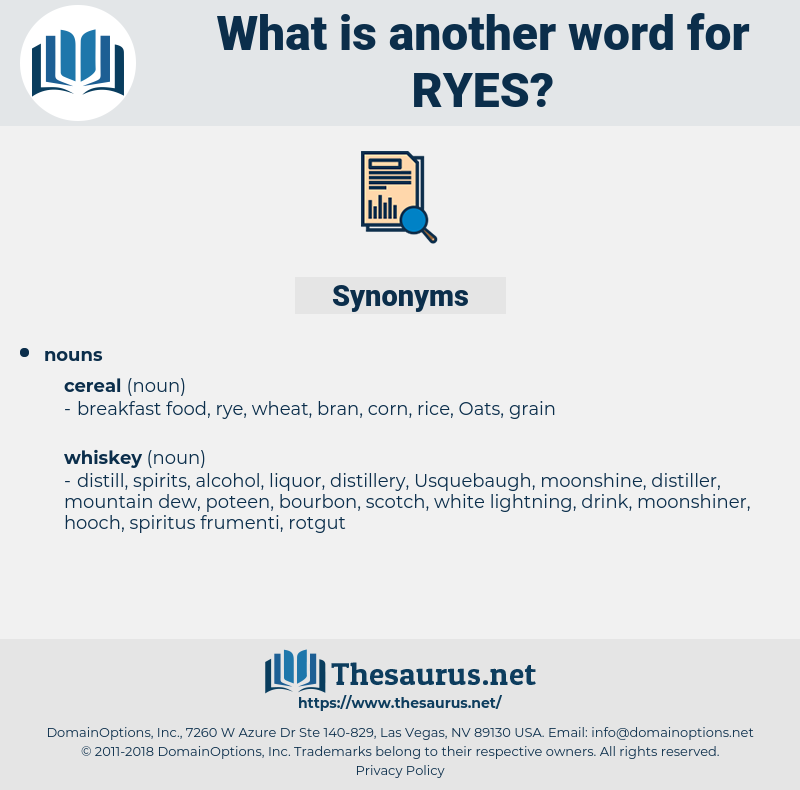 ryes, synonym ryes, another word for ryes, words like ryes, thesaurus ryes