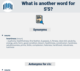 s's, synonym s's, another word for s's, words like s's, thesaurus s's