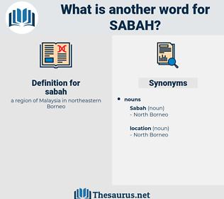 sabah, synonym sabah, another word for sabah, words like sabah, thesaurus sabah