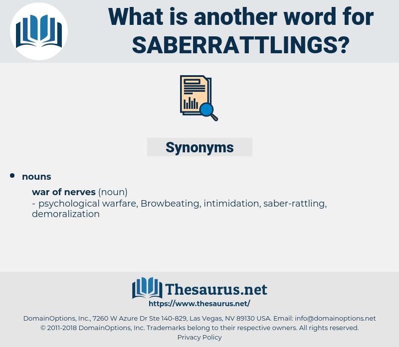saberrattlings, synonym saberrattlings, another word for saberrattlings, words like saberrattlings, thesaurus saberrattlings