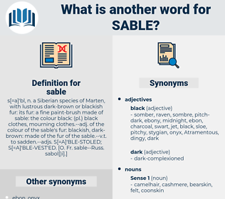 sable, synonym sable, another word for sable, words like sable, thesaurus sable