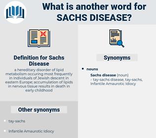 Sachs Disease, synonym Sachs Disease, another word for Sachs Disease, words like Sachs Disease, thesaurus Sachs Disease