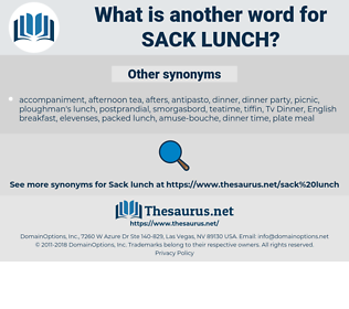 sack lunch, synonym sack lunch, another word for sack lunch, words like sack lunch, thesaurus sack lunch