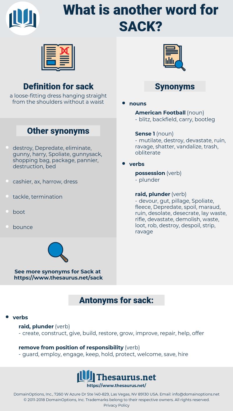 sack, synonym sack, another word for sack, words like sack, thesaurus sack