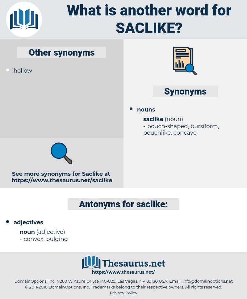 saclike, synonym saclike, another word for saclike, words like saclike, thesaurus saclike