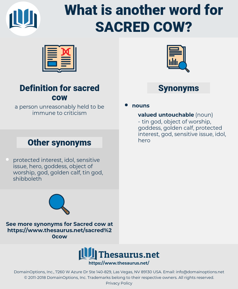 sacred cow, synonym sacred cow, another word for sacred cow, words like sacred cow, thesaurus sacred cow