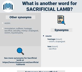 sacrificial lamb, synonym sacrificial lamb, another word for sacrificial lamb, words like sacrificial lamb, thesaurus sacrificial lamb