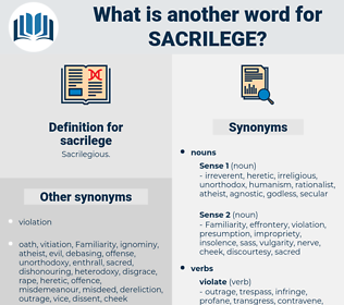 sacrilege, synonym sacrilege, another word for sacrilege, words like sacrilege, thesaurus sacrilege