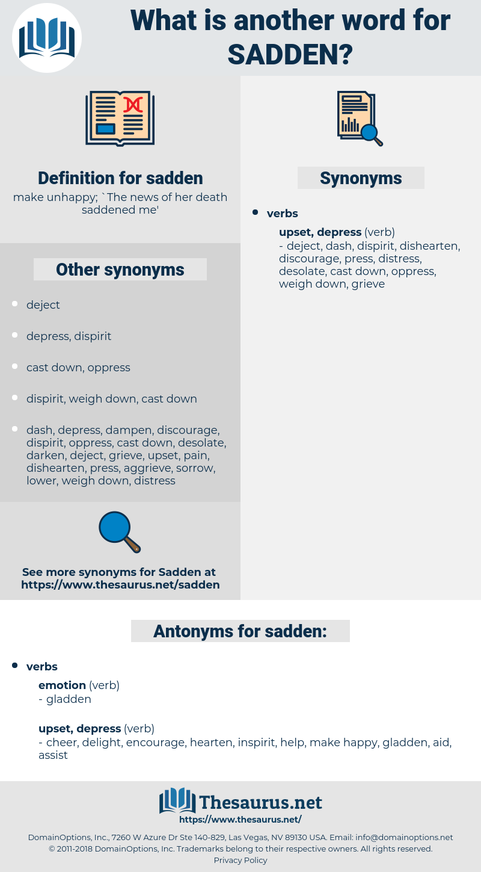 sadden, synonym sadden, another word for sadden, words like sadden, thesaurus sadden