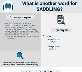 Saddling, synonym Saddling, another word for Saddling, words like Saddling, thesaurus Saddling