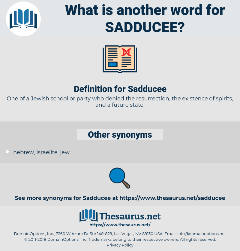 Sadducee, synonym Sadducee, another word for Sadducee, words like Sadducee, thesaurus Sadducee