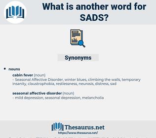 SADS, synonym SADS, another word for SADS, words like SADS, thesaurus SADS