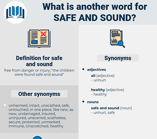 safe and sound, synonym safe and sound, another word for safe and sound, words like safe and sound, thesaurus safe and sound