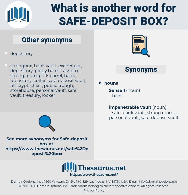 safe-deposit box, synonym safe-deposit box, another word for safe-deposit box, words like safe-deposit box, thesaurus safe-deposit box