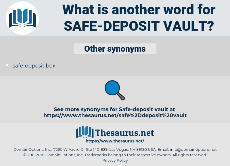 safe-deposit vault, synonym safe-deposit vault, another word for safe-deposit vault, words like safe-deposit vault, thesaurus safe-deposit vault