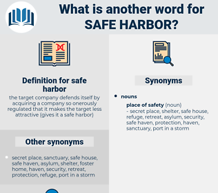 safe harbor, synonym safe harbor, another word for safe harbor, words like safe harbor, thesaurus safe harbor
