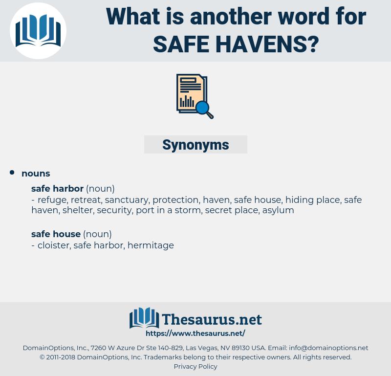 safe havens, synonym safe havens, another word for safe havens, words like safe havens, thesaurus safe havens