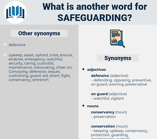 safeguarding, synonym safeguarding, another word for safeguarding, words like safeguarding, thesaurus safeguarding