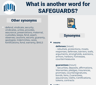 safeguards, synonym safeguards, another word for safeguards, words like safeguards, thesaurus safeguards