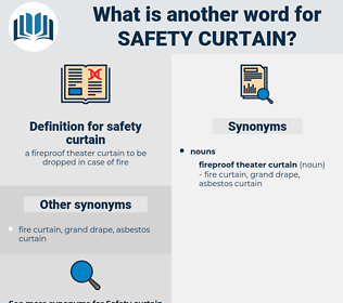 safety curtain, synonym safety curtain, another word for safety curtain, words like safety curtain, thesaurus safety curtain