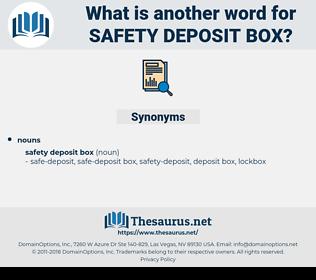 safety deposit box, synonym safety deposit box, another word for safety deposit box, words like safety deposit box, thesaurus safety deposit box
