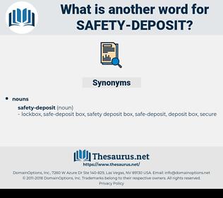 safety-deposit, synonym safety-deposit, another word for safety-deposit, words like safety-deposit, thesaurus safety-deposit