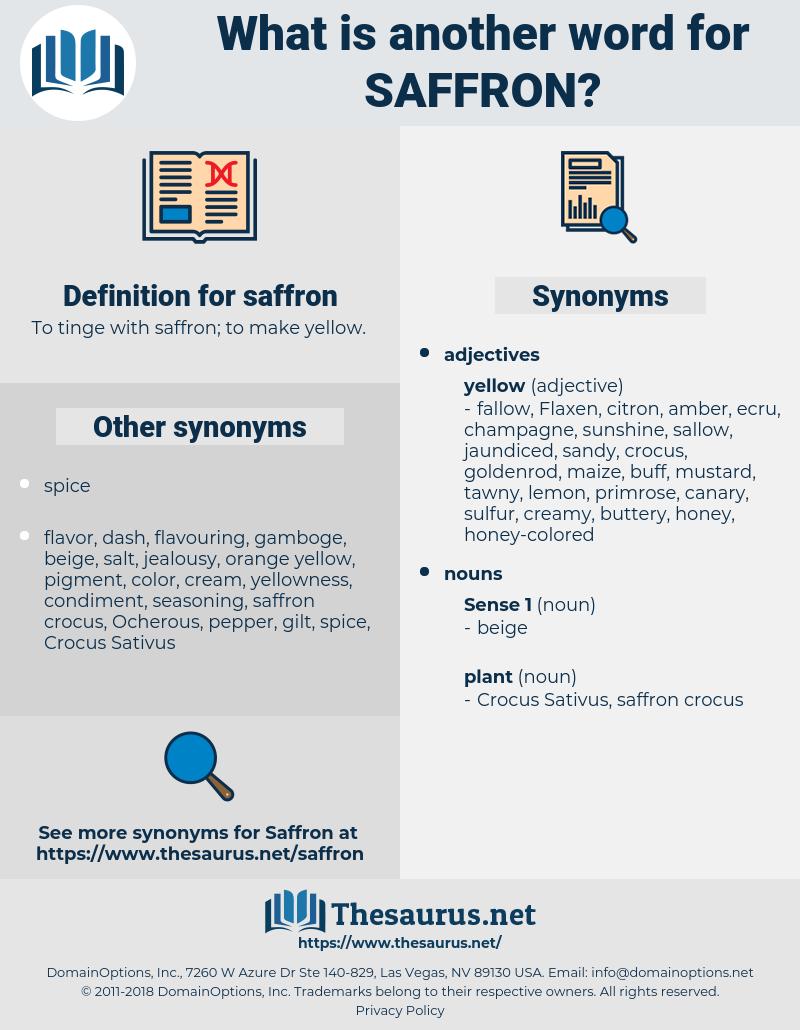 saffron, synonym saffron, another word for saffron, words like saffron, thesaurus saffron