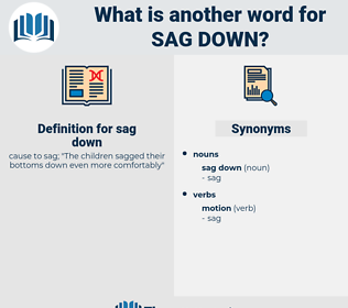 sag down, synonym sag down, another word for sag down, words like sag down, thesaurus sag down