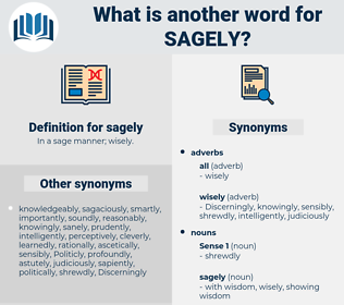 sagely, synonym sagely, another word for sagely, words like sagely, thesaurus sagely