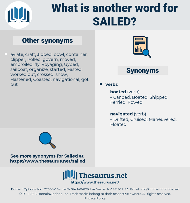 Sailed, synonym Sailed, another word for Sailed, words like Sailed, thesaurus Sailed