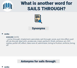 sails through, synonym sails through, another word for sails through, words like sails through, thesaurus sails through