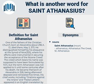 Saint Athanasius, synonym Saint Athanasius, another word for Saint Athanasius, words like Saint Athanasius, thesaurus Saint Athanasius