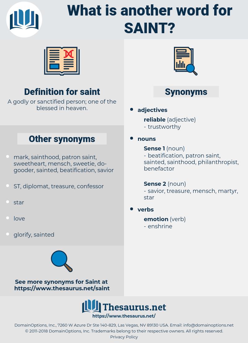 saint, synonym saint, another word for saint, words like saint, thesaurus saint