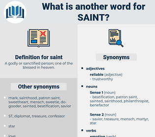saint, synonym saint, another word for saint, words like saint, thesaurus saint