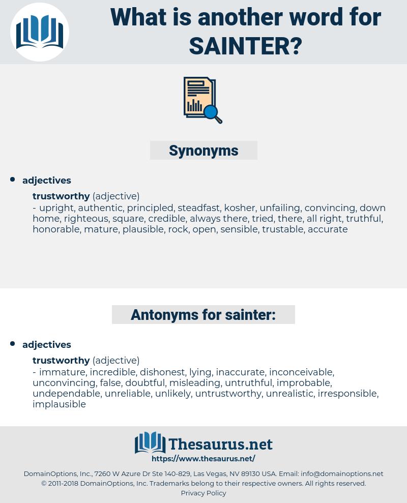 sainter, synonym sainter, another word for sainter, words like sainter, thesaurus sainter