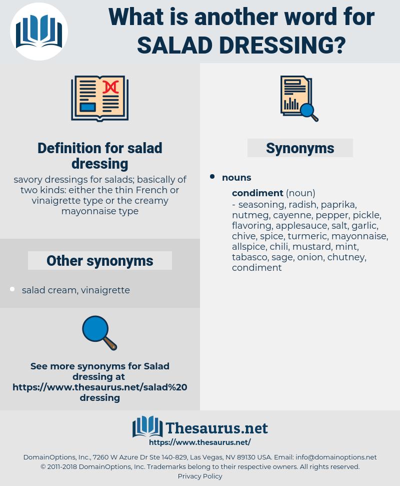 salad dressing, synonym salad dressing, another word for salad dressing, words like salad dressing, thesaurus salad dressing