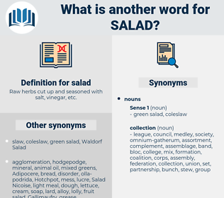 salad, synonym salad, another word for salad, words like salad, thesaurus salad
