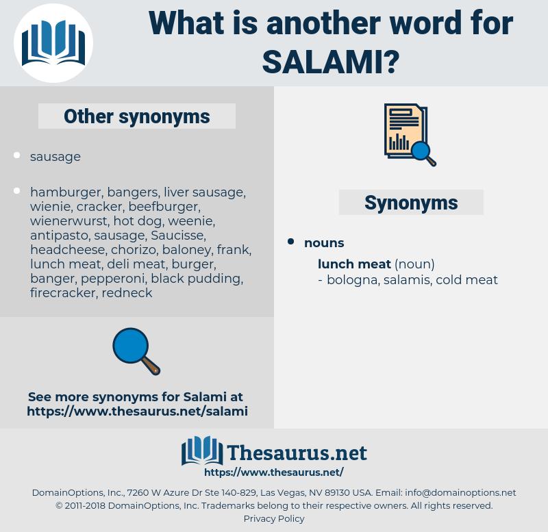 salami, synonym salami, another word for salami, words like salami, thesaurus salami