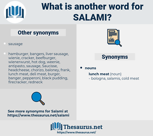 salami, synonym salami, another word for salami, words like salami, thesaurus salami