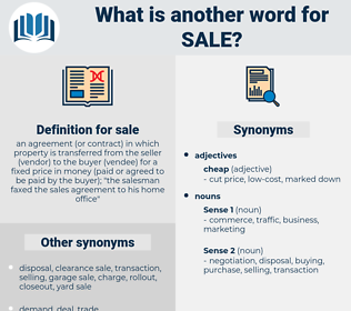 sale, synonym sale, another word for sale, words like sale, thesaurus sale
