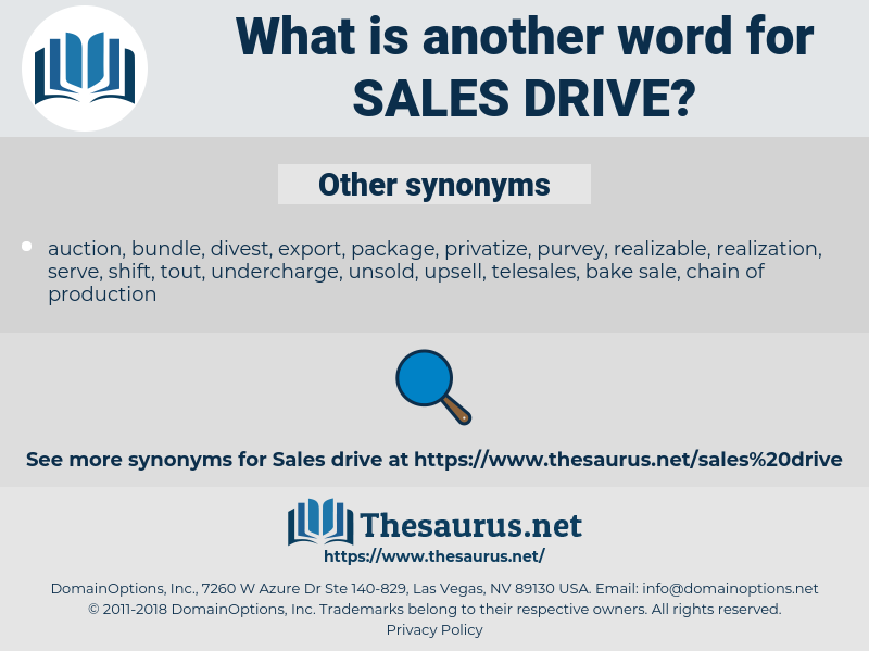 sales drive, synonym sales drive, another word for sales drive, words like sales drive, thesaurus sales drive