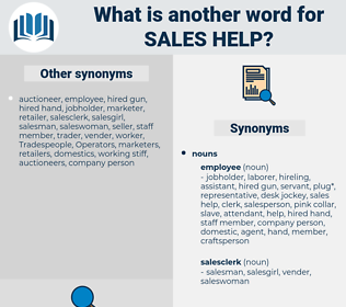 sales help, synonym sales help, another word for sales help, words like sales help, thesaurus sales help