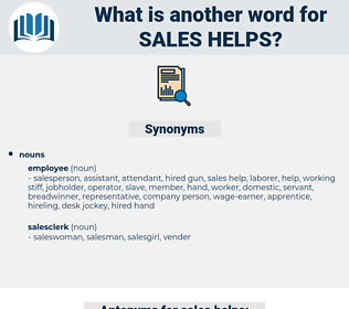 sales helps, synonym sales helps, another word for sales helps, words like sales helps, thesaurus sales helps