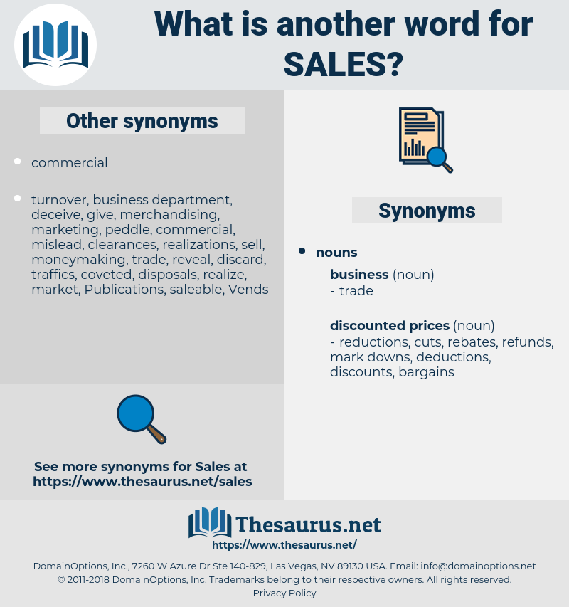 sales, synonym sales, another word for sales, words like sales, thesaurus sales